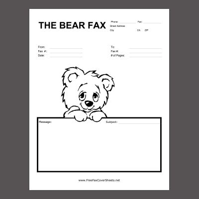 Doc fax cover letter